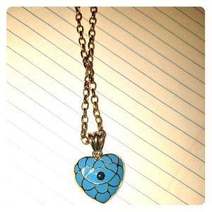 Evil Eye Queen of Hearts long necklace